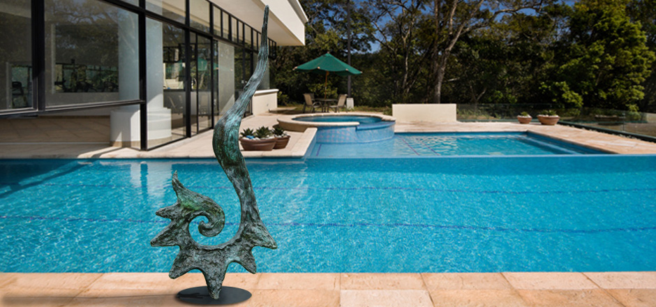 BRONZE ART GALLERY - BRONZE POOL SCULPTURES AND STATUES LET IT GO!