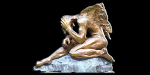 BRONZE ART GALLERY - BRONZE POOL SCULPTURES AND STATUES STILLNESS!
